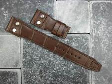 22mm Alligator Skin Leather Rivet Strap Extra Large XL Band for IWC BIG PILOT