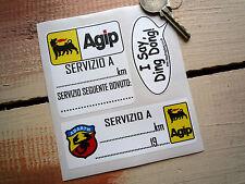 ABARTH  AGIP SERVICE STICKERS FIAT 500 600 850 Punto