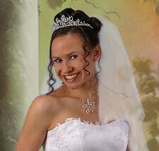 Diadem Tiara Collier Halskette Haarschmuck Kopfschmuck Halsschmuck Hochzeit
