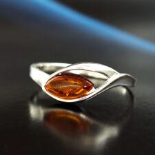 Bernstein Silber 925 Ring Sterlingsilber Damen Schmuck verschiedene Größen R0339