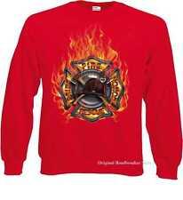 Felpa rosso Vigili del fuco/Firefighter disegno Modello Fuoco Salvataggio