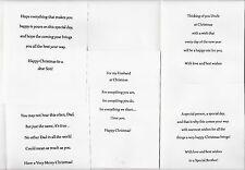 10 MALE RELATIVE CHRISTMAS CARD INSERTS, PRE-CUT,100GSM, A6, A5, 6X6, 5X5, 7X5