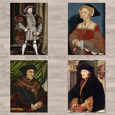 Hans Holbein A4 canvas paper / poster prints. Tudor Portraits.