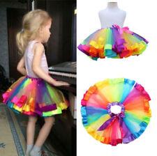 93ec249c7743 UK Baby Girl Rainbow Tutu Skirt Multicolour Petticoat Kid Costume Ballet  Dance