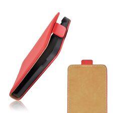 Pochette Housse A Clapet Pocket Etui Slim Flip Leather Case CUIR PU Coque Rouge
