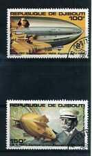 DJIBOUTI 1980, aériens 144/145, Dirigéables, oblitérés