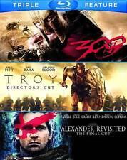 Alexander Revisted/Troy/300 (Blu-ray Disc, 2012, 3-Disc Set) [H]
