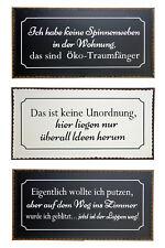 Blech-Schild mit verschiedenen lustigen Sprüchen Ordnung 40 x 20 cm