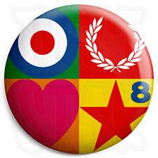 Paul Weller - Peter Blake - Mod Logo 25mm Button Badge with Fridge Magnet Option
