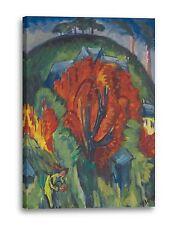 Lein-Wand-Bild Kunstdruck: Ernst Ludwig Kirchner GALGENBERG IN JENA 1915/16