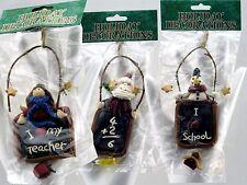 Fimo Clay TEACHER Holiday Gift ORNAMENT Choice of Angel Santa Snowman
