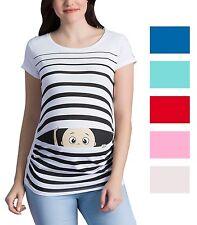 Lustige Umstandsmode T-Shirt Motiv| Schwangerschaftsmode Geschenk | Peek a Boo