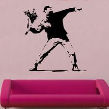 Banksy Flowerbomb Decal Vinyl Wall Sticker Art Graffitti Street