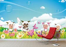 3D Lovely Cartoon Sheep 4118 Wallpaper Decal Dercor Home Kids Nursery Mural Home