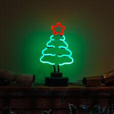 vrai fait à la main néon éclairé Sapin de Noël table décoration Haut épicéa