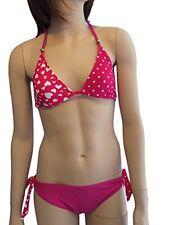 Girls Rosa a Cuori Bikini/Costume da bagno. età 7-16Yrs