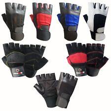 Gewichteheben Leder Gepolsterte Handschuhe Fitness Training Body Building Träger
