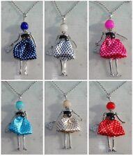 Bambola collana catena strass pois perla,Bambolina,donna,Nuova collezione GL069