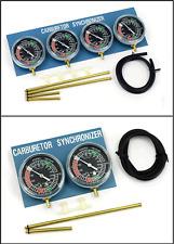 BikeTek Carb Carburettor Motorcycle Vacuum Gauge Calibration Kit 2 & 4 Cylinder