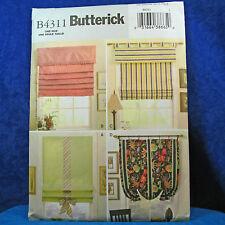 Butterick 4311 Home Decor Window Treatments Patterns