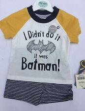 Baby Boy T Shirt & Shorts set with I didn't do it, it was Batman
