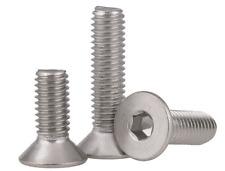 Select Size 2-56 to 8-32 Stainless Steel Allen Flat Head Socket Cap Screws