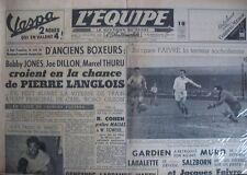 BOXE LANGLOIS RUGBY BEZIERS PERPIGNAN FOOT SOCHAUX FAIVRE JOURNAL L'EQUIPE 1954
