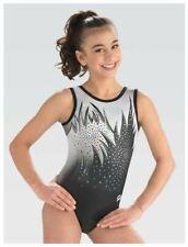 Gk Elite Dreamlight Black White Noise Gymnastics Leotard Child & Adult Sizes New