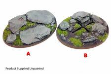 Large Oval Rock Slate Resin Bases - Warhammer 40K Flyer - Choose Style