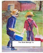 Ex Libris,Amish School Boys,Children,BooksWaterclr repr