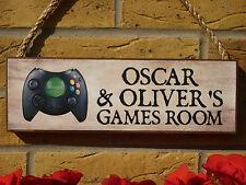 Personalizado Caseta signos signos Sala De Juegos X Box controladores de juego tu propia redacción