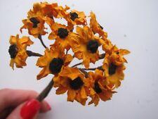 Parchment Paper Mini Sunflowers 2 Colours Artifical Wedding Flowers