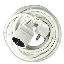 (3,05 €/ M) PVC CAVO CORRENTE ELETTRICA 3 X 1,50 mm² di prolunga bianco 2, 3, 5