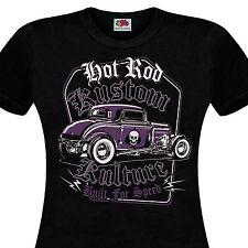 T-shirt femme HOT ROD Kustom Kulture Built For Speed Custom Car Ford T - V8 60's