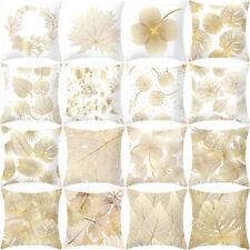 Gold Plant Printed Polyester Pillow Case Throw Car Sofa Cushion Cover Home Decor