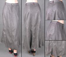 NWT Women Size S-3XL A-line Long Skirt  LUREX SILVER GRAY COLOR, SG-85947