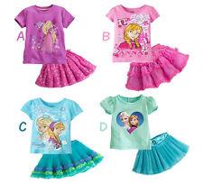 Gonna e Maglia Completo - Frozen - Rapunzel - Girl Set skirt + T-shirt -  A00011