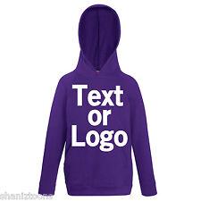 Purple Kids Childrens Lightweight Hoodie Personalised Printing Text Logo