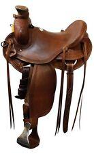 Showman Wade Old Timer Roping Saddle Angled Aluminum Stirrups  *Roping Warranty*