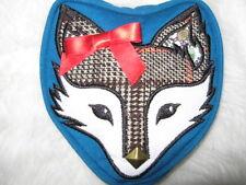 Miss Foxy Lady FOX PORTAMONETE Tweed Fiocco Rosso Stud Portafoglio a Zip Cavallo Regalo Ragazze