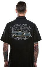 Lucky 13 Dragger Low & Evil Tattoo Punk Biker Hot Rod Mens Work Shirt LM6850DG