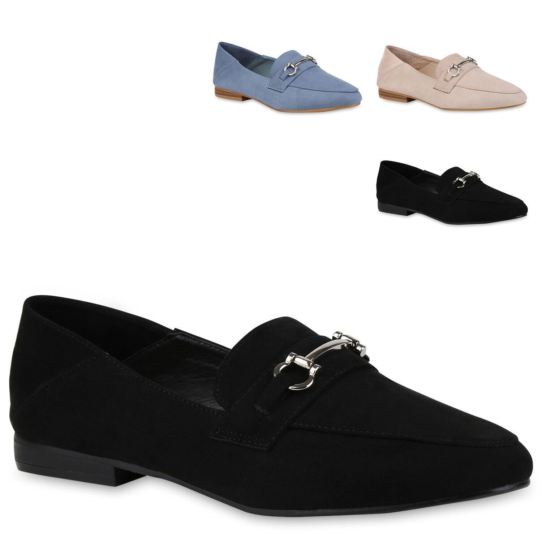 Damen Slippers Slip Ons Wildleder-Optik Nieten Strass Strass Nieten Flats 820261  Zapatos e021b2