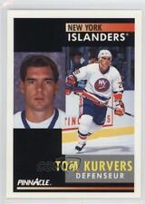 1991 Pinnacle French 7 Tom Kurvers Buffalo Sabres New York Islanders Hockey Card