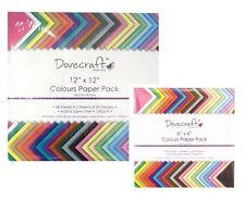 Dovecraft SCRAPBOOKING colorati carta Pack quadrato colori assortiti acido libero