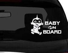 "Baby on Board incredibles Baby #1 Die Cut Car Decal sticker cute baby 7"" (W)"