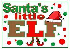 IRON ON TRANSFER or STICKER -SANTA'S LITTLE ELF - CHRISTMAS SACK T-SHIRT HAT