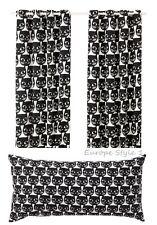 NEW IKEA MATTRAM CURTAINS, 1 PAIR, OR PILLOW CUSHION BLACK WHITE CAT