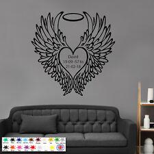 Personalised Guardian Angel - Children Wallart - Wall Sticker, Remembrance Art