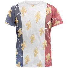 French Flag Grunge Distressed Fleur De Lis Mens T Shirt