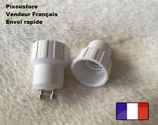 Adaptateur douille GU10 mâle - E14 femelle pour ampoule culot neuf 8-45